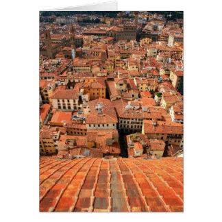 Cartão Telhados vermelhos do azulejo