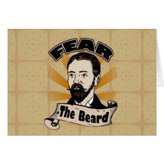 Cartão Tema a barba, bigode engraçado