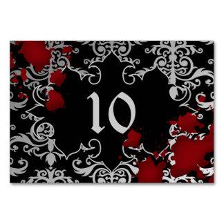 Cartão Tema assustador Wedding do número da mesa