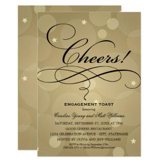 Cartão Tema da festa de noivado | Champagne do casamento