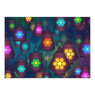 Cartão Tema do partido das lanternas das noites árabes