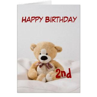 Cartão Tema do urso de ursinho do feliz aniversario ò