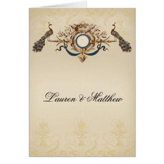 Cartão Tema elegante do pavão