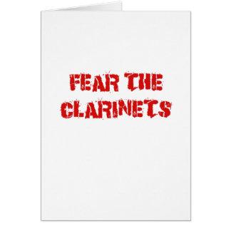 Cartão Tema os clarinetes