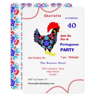 Cartão Tema português do partido do galo de Barcelos