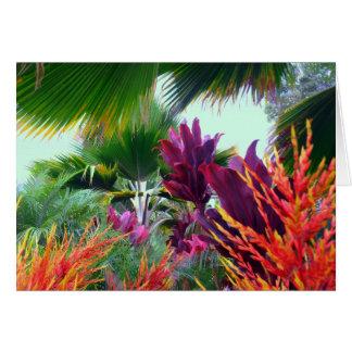 Cartão Tema tropical havaiano do Natal