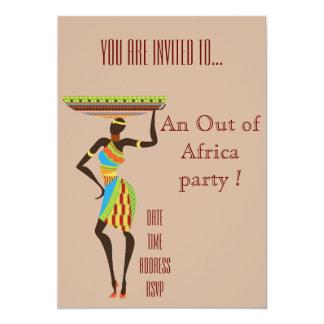 Cartão Temático africano fora do partido de África