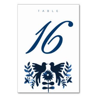 Cartão temático da mesa de Otomi do mexicano -