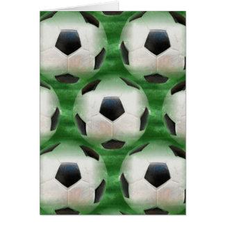 cartão temático do futebol
