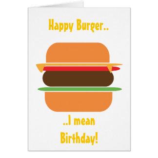 Cartão temático do hamburguer