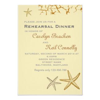 Cartão temático do jantar de ensaio da estrela do convite