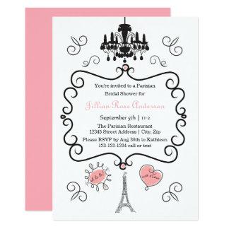 Cartão Temático parisiense - chá de panela