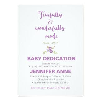 Cartão Temìvel & maravilhosamente a dedicação do bebê