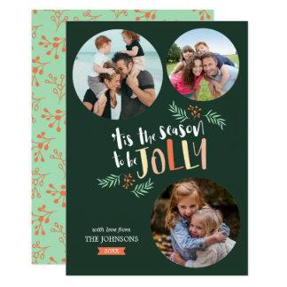 Cartão Tempere para ser Natal do feriado de