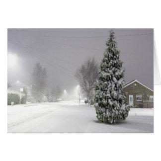 Cartão Tempestade da neve