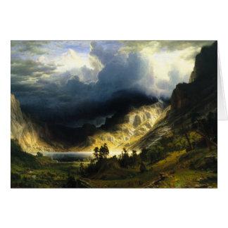 Cartão Tempestade de Bierstadt nas montanhas rochosas