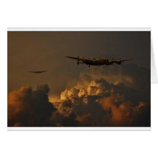 Cartão TEMPESTADE do bombardeiro de Lancaster
