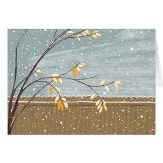 Cartão Tempestade do inverno & a árvore de cinza