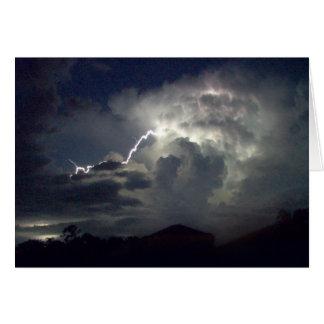 Cartão - tempestade do relâmpago