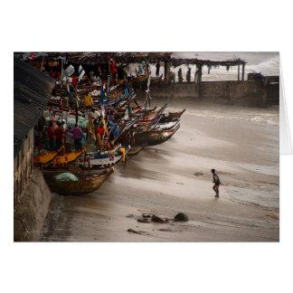 Cartão Tempestade Mindscape da costa do cabo (No3)