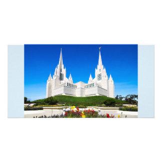 Cartão Templo de LDS San Diego horizontal