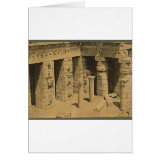 Cartão Templo de Ramses III. Egipto cerca de 1870