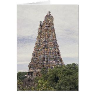 Cartão Templo de Sri Meenakshi Amman, Madurai, Tamil
