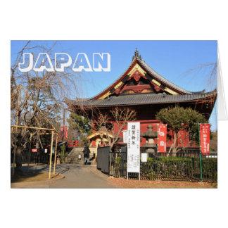 Cartão Templo em Tokyo, Japão