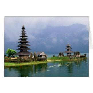 Cartão templo Indonésia de bali