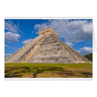 Cartão Templo maia de Chichen Itza em México