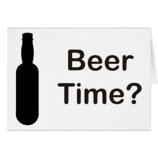 Cartão Tempo da cerveja?