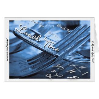 Cartão Tempo do almoço