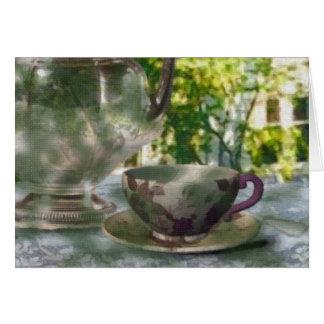 Cartão Tempo do chá