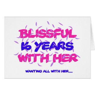 Cartão Tendendo o 16o design do aniversário do casamento