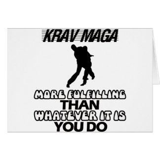 Cartão Tendendo o DESIGN de Krav Maga