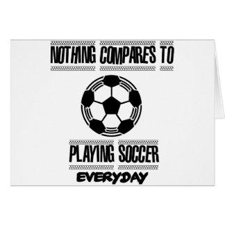 Cartão Tendendo o design legal do futebol