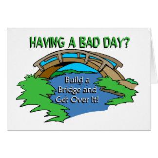 Cartão Tendo um dia mau