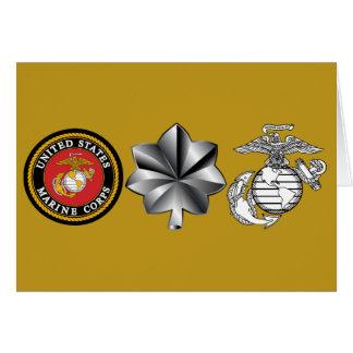 Cartão Tenente Coronel 0-5 do USMC LtCol