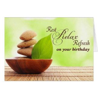 Cartão Tenha muito um aniversário dos termas (o cartão)