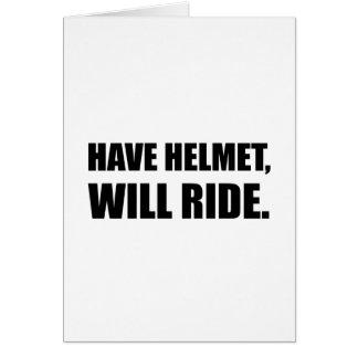 Cartão Tenha o capacete montará