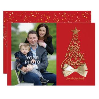 Cartão Tenha o Feliz Natal bonito