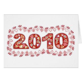 Cartão tenha um 2010 bonito