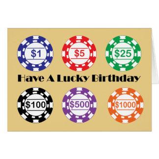 Cartão Tenha um aniversário afortunado