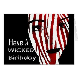 Cartão Tenha um aniversário mau… não demasiado mau;)