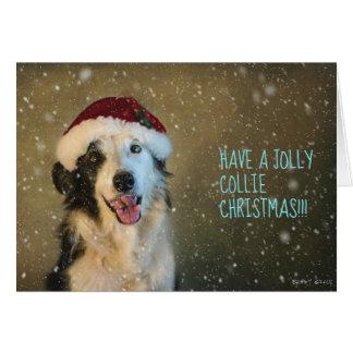 Cartão Tenha um collie alegre Cristmas