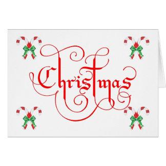 Cartão Tenha um Natal bonito & um ano novo doce