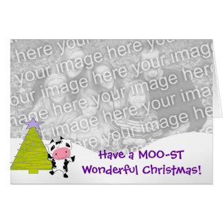 Cartão Tenha um Natal maravilhoso de MOO-ST!