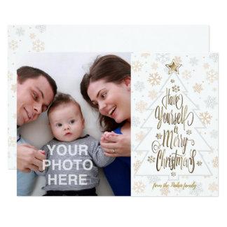 Cartão Tenha você mesmo Feliz Natal