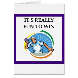Cartão ténis de mesa