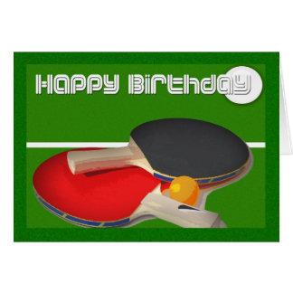 Cartão Ténis de mesa de Pong do sibilo do esporte do